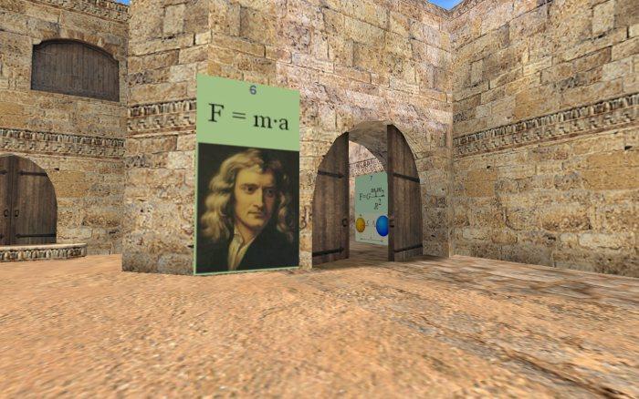 Второй закон Ньютона на карте